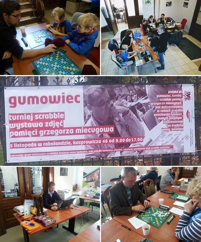 Gumowiec. Turniej Scrabble pamięci Grzegorza Miecugowa.