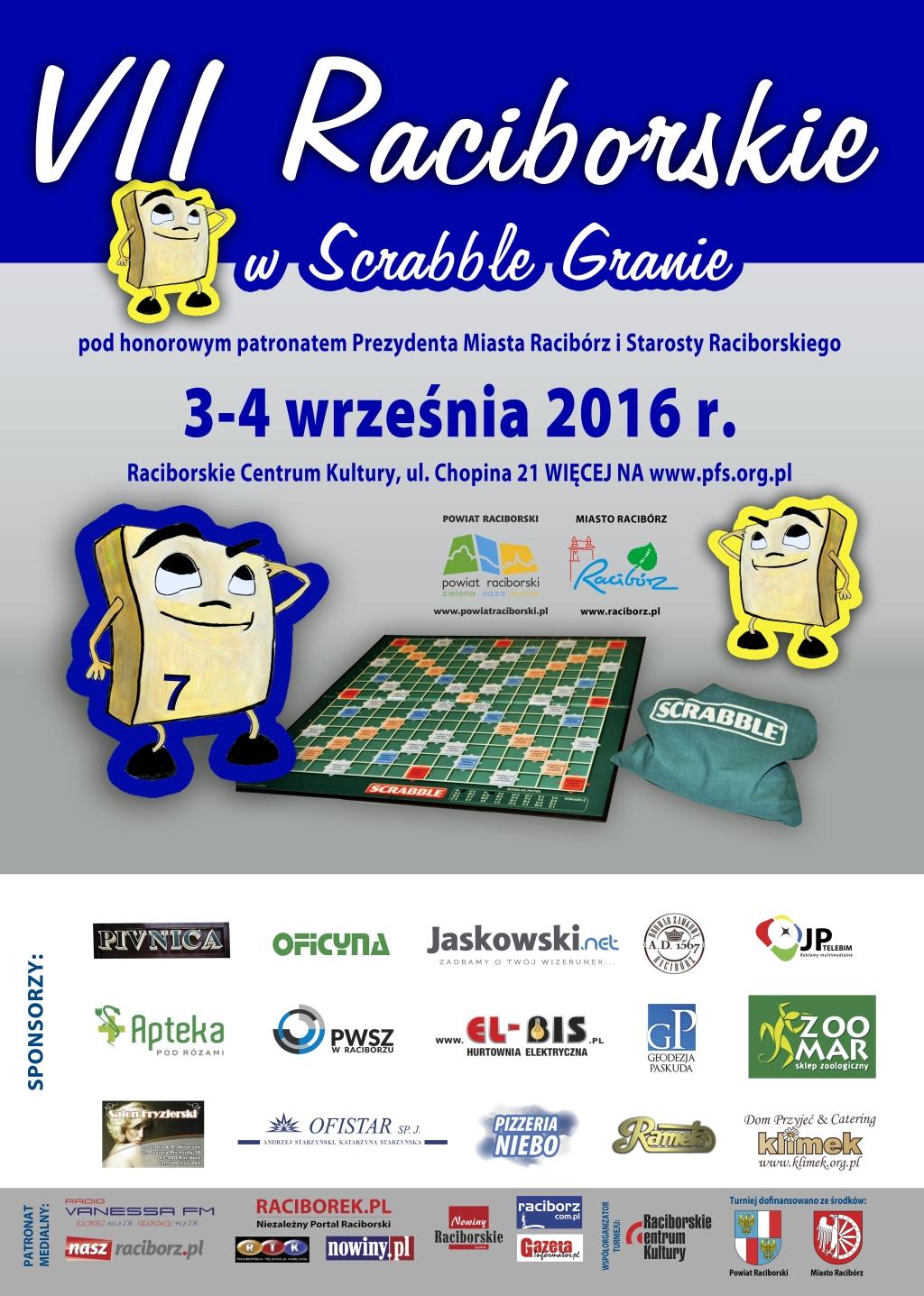 Polska Federacja Scrabble Vii Otwarte Mistrzostwa Raciborza Pod